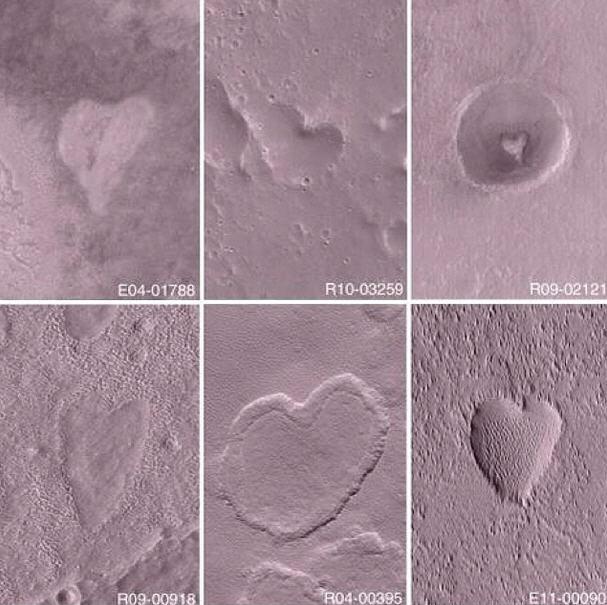 NASA Mars Hearts